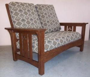 New Mission Oak Love Seat